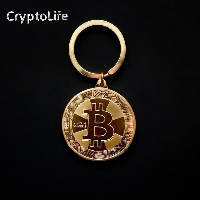 One of our produucts, the Bitcoin Keychain