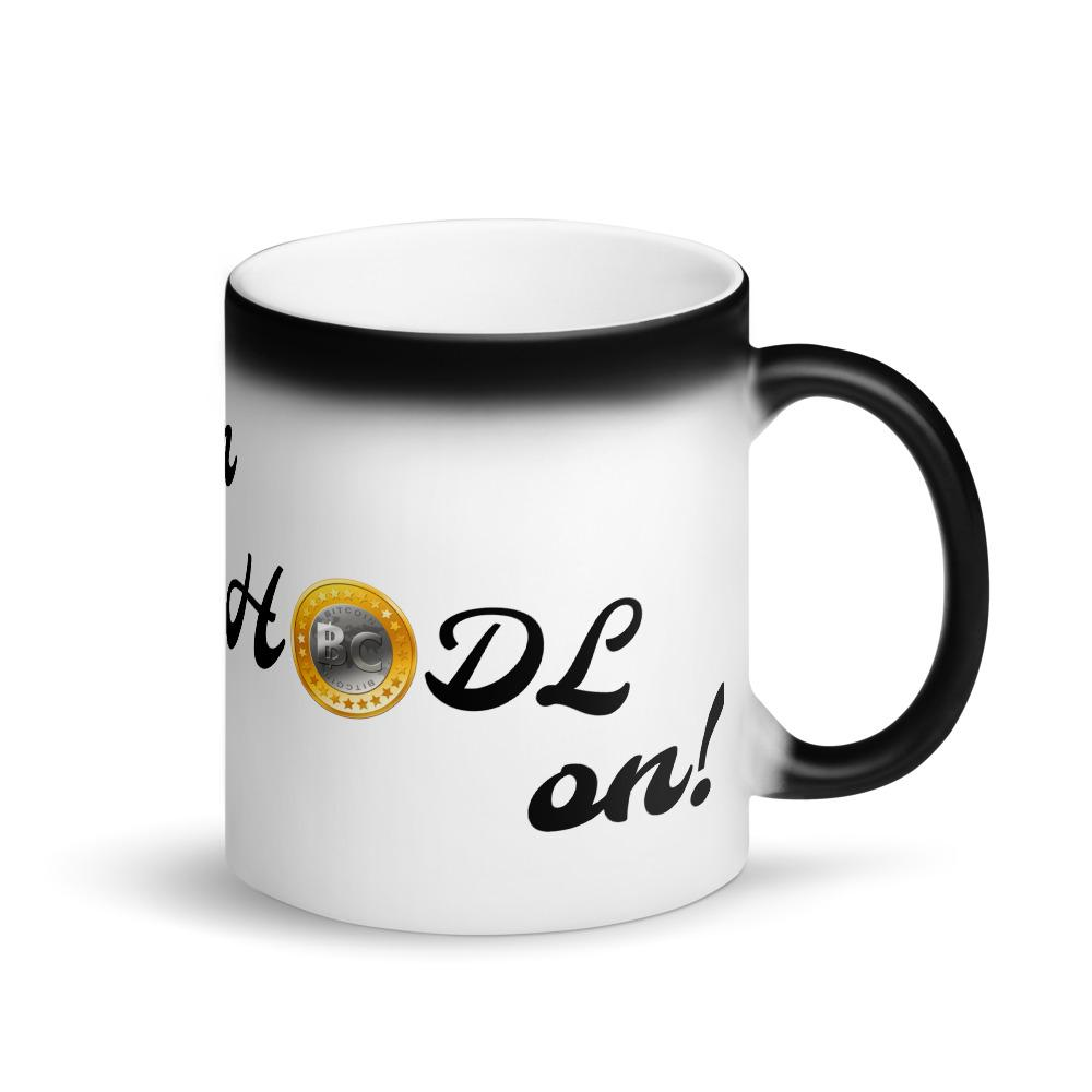 One of our staple products, the HODL Magic Mug